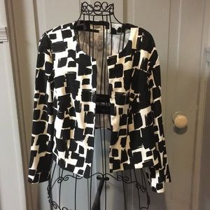 Dressbarn Cropped Open Front Jacket